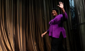 Stacey Abrams: 'We have a right to vote in the US that is afforded to American citizens but we have seen over the last 20 years a constriction on who has the right to use that right.'