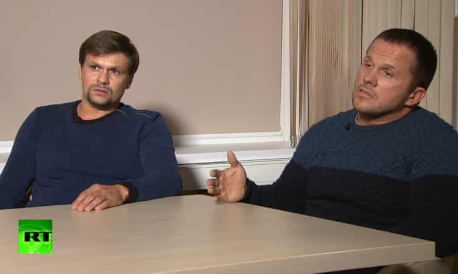 Bellingcat and the Insider accused two men, identified by the pseudonyms Ruslan Boshirov, left, and Alexander Petrov, of the Salisbury poisonings.
