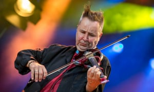 Nigel Kennedy performing at the Saar music festival in Germany last year.