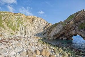 The tectonic folding of the Lulworth Crumple on Dorset's Jurassic Coast by Mark Godden.