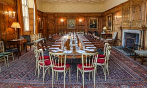 The room at Chequers where the cabinet have been meeting.