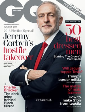 Jeremy Corbyn on the cover of GQ magazine