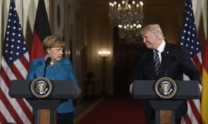 The appointment comes a day before Angela Merkel is due to arrive in Washington.