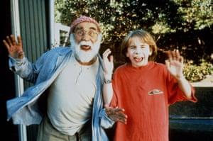 Warren Mitchell and Daniel Kellie in the 1998 Australian film, Crackers.