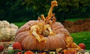 One of Villafane's pumpkins
