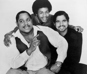 'The line about me being the baddest rapper was wishful thinking' … from left, Big Bank Hank, Master Gee and Wonder Mike in 1980.