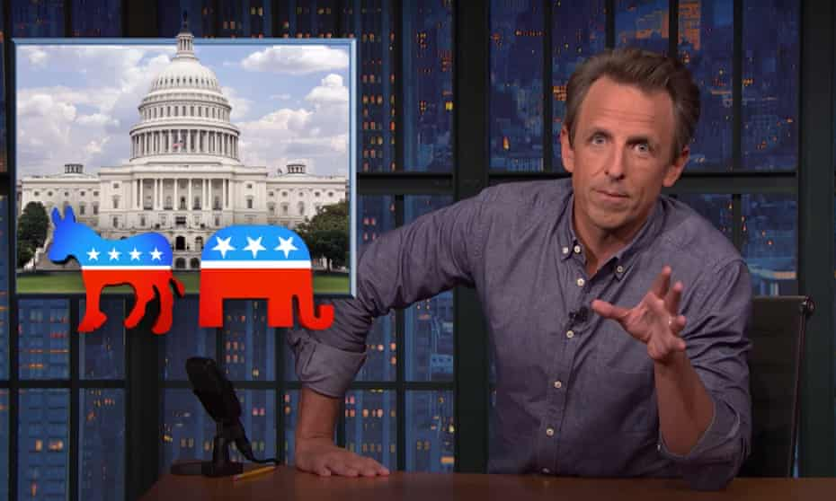 """Seth Meyers on Trump's weekend rally in Iowa: """"Even his own crowd wasn't exactly electrified by hearing the same old incoherent nonsense over and over again."""""""