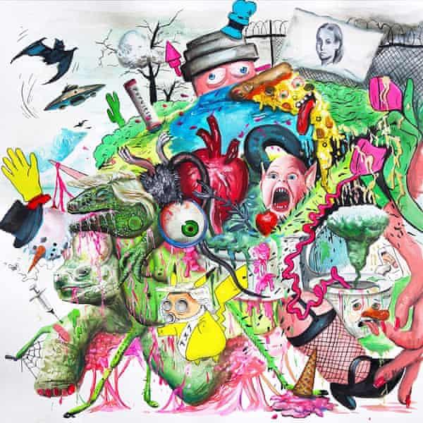 Tropical Fuck Storm: Braindrops album art work
