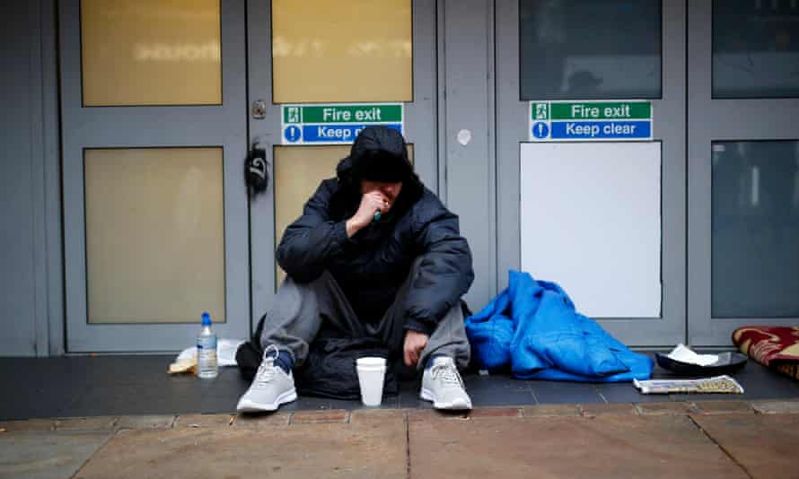 A homeless man in Manchester