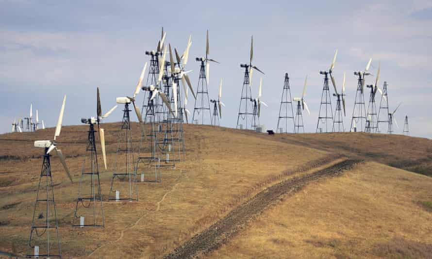Windmills near Livermore, California. State officials have spent years trying to advance plans for wind development.
