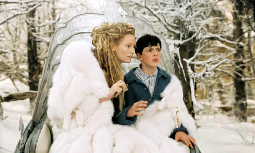 Tilda Swinton as the White Witch in The Chronicles of Narnia: The Lion, The Witch and The Wardrobe.