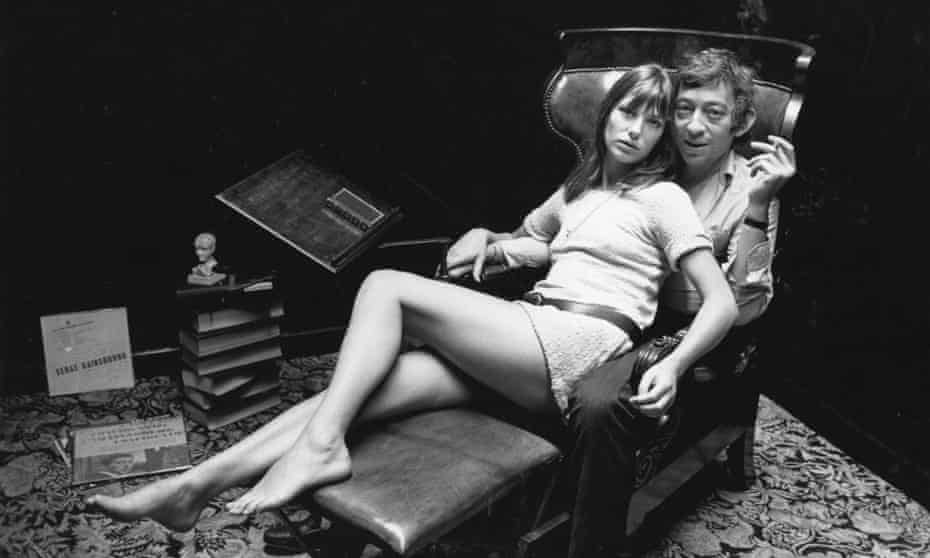 L'amour: English actor Jane Birkin and French singer Serge Gainsbourg.