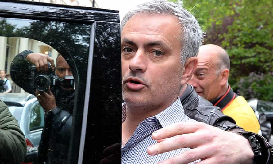 José Mourinho gets into a waiting car as he leaves his home in Belgravia, London.