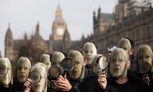Campaigners called on Theresa May to rethink the 'snooper's charter' at a Westminster protest on Friday.