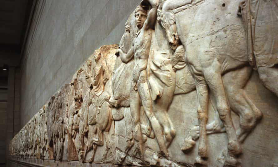 A frieze that forms part of the Parthenon marbles