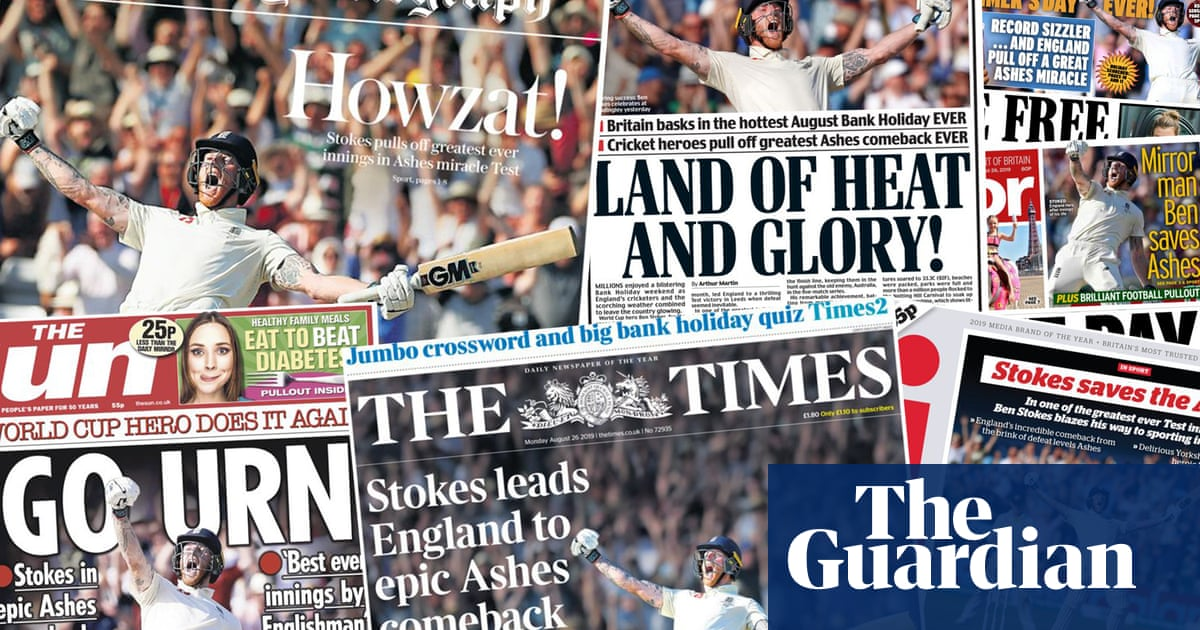 Go urn, my son: what the papers say about Englands Ashes comeback