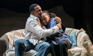 Osy Ikhile and Clare Perkins in Sweat at the Donmar Warehouse.