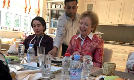Princess Sheikha Latifa bint Mohammed al-Maktoum, with Mary Robinson, former United Nations High Commissioner for Human Rights and former president of Ireland, in Dubai in December 2018.