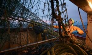 Trawler fishing off the coast of Shetland.