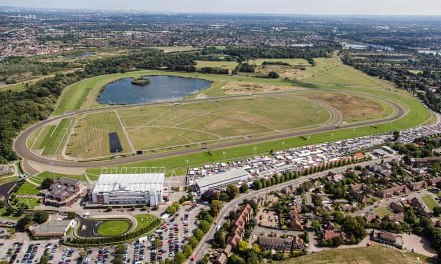 Kempton Park in Surrey, as seen from above.