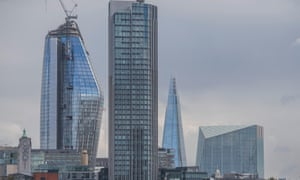 London skyscrapers, including the Shard and One Blackfriars.