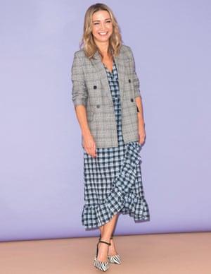 Jess Cartner-Morley in check dress