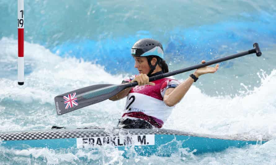 Mallory Franklin during her silver medal-winning final run.