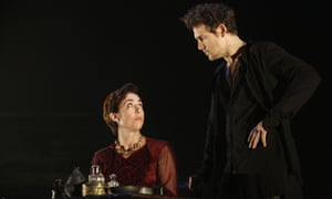 As Queen Margaret with Jamie Sives as James III in The James Plays.