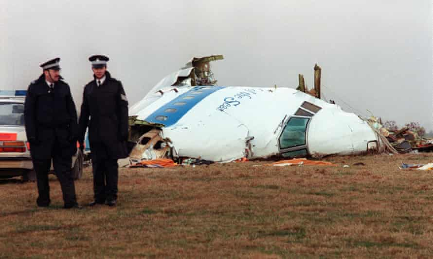 The remains of Pan Am flight 103