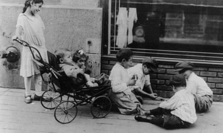 City children - Syrian children playing in street, New York. No date or location recorded