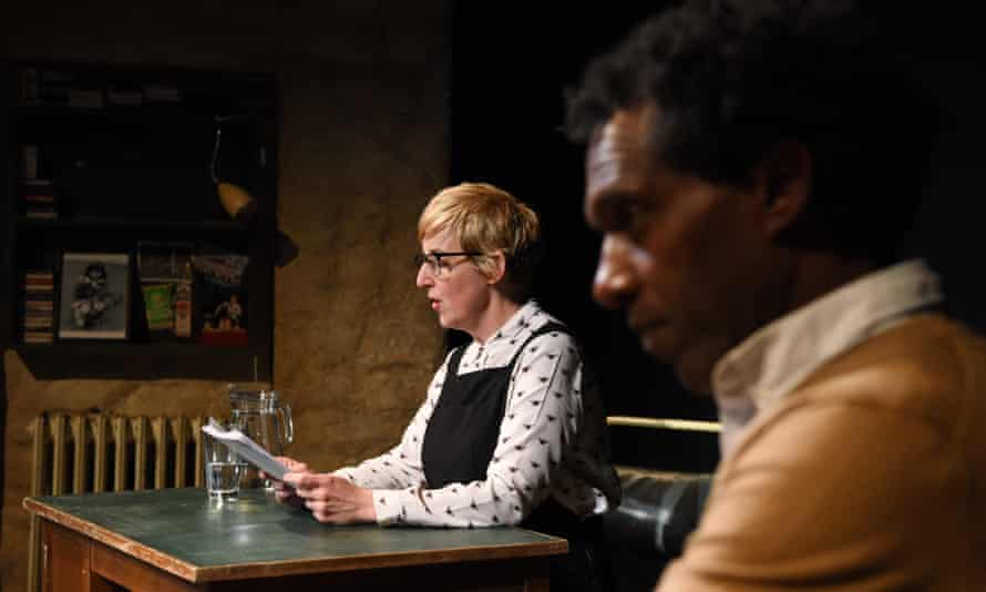 Julie Hesmondhalgh and Lemn Sissay performing The Report at the Royal Court theatre last year.
