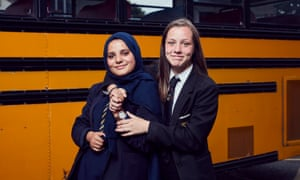 Zainab and Hannah in The Great British School Swap