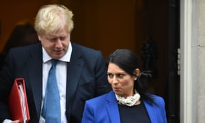 Britain's foreign secretary, Boris Johnson, and international development secretary, Priti Patel