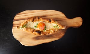 Black Sea pide with slow-cooked egg yolk: 'Tastes more like egg and soldiers in Surrey than a feast of the senses in Istanbul.'