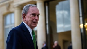 Former New York City mayor Michael Bloomberg in Paris. Of the 1,500 interns hired during his administration, one in five had been recommended by someone internally.