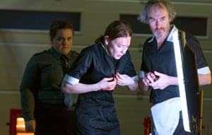 Jessica Gunning, Cate Blanchett and Stephen Dillane in When We Have Sufficiently Tortured Each Other.