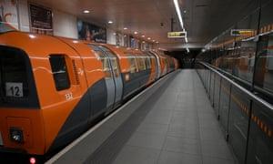 An empty underground station in Glasgow today.