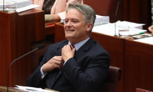 The finance minister, Mathias Cormann. His backroom lobbying effort on company tax reform has gone into overdrive.