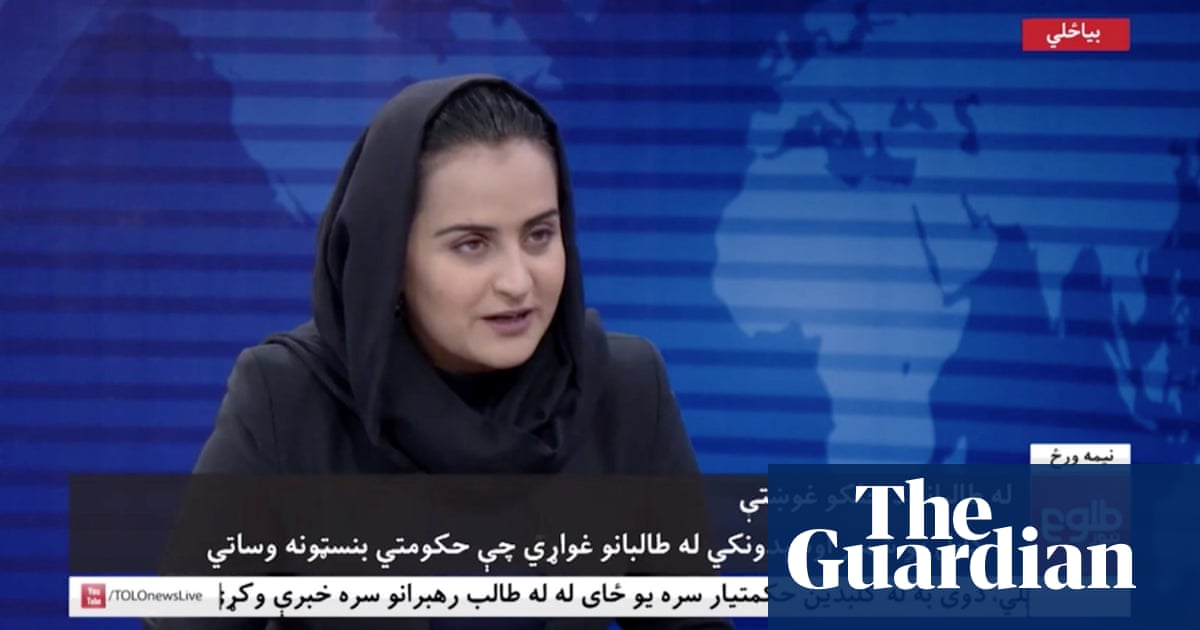 'Now I don't have anything': female TV anchor flees Afghanistan after interviewing Taliban – video