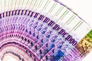 1,000 Swiss franc note