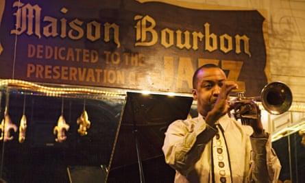 Jazz in Maison Bourbon, New Orleans.