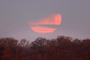 A partial eclipse seen in Washington DC, US