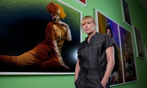 Photographer Cindy Sherman at the Broad Museum, Los Angeles