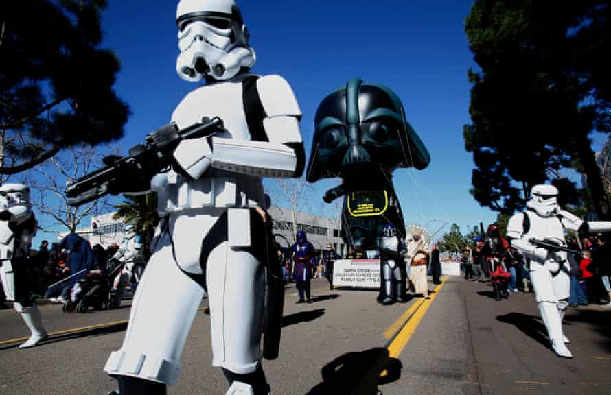 San Diego: Darth Vader and a host of stormtroopers join the annual Balloon Parade.