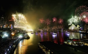 Sydney Harbour on New Year's Eve.