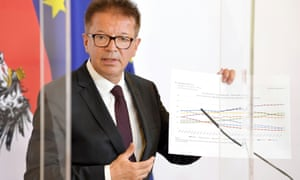 Austrian health minister Rudolf Anschober at a news conference in Vienna