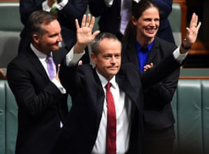 Bill Shorten after giving his reply to Malcolm Turnbull's budget