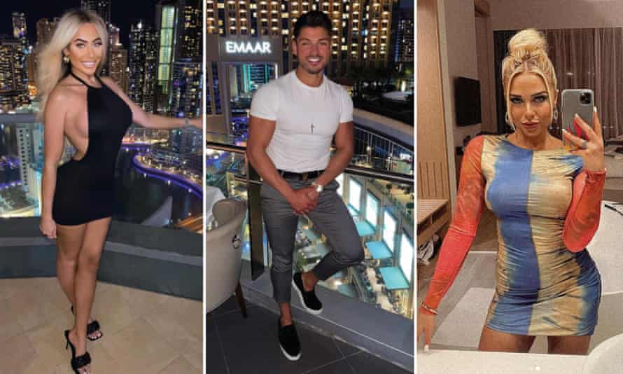 Chloe Ferry, Anton Danyluk and Gabby Allen in images posted on social media