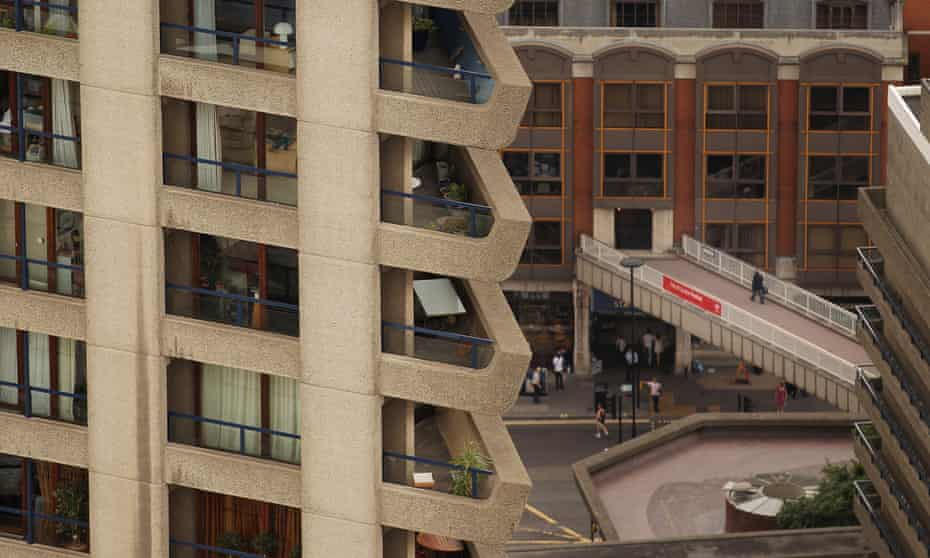 The Barbican Estate viewed from the roof of Cromwell Tower on July 2, 2010 in London, England.