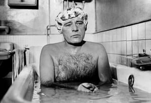 Burton in the Bath, 1969Welsh actor Richard Burton sitting in a bath looking thoughtful in a scene from Stanley Donen's 1969 film Staircase